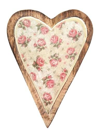 Vitale Dekoratif Kalp Büyük Boy Krem